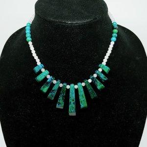 Jewelry - Lapis lazuli chrysocolla choker necklace